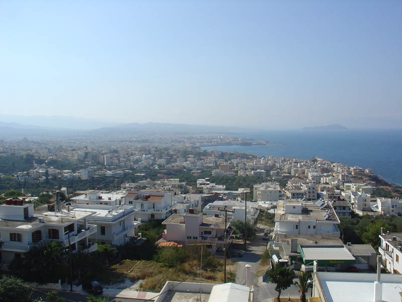 Panoramic view of Chania from Loucerna Art Hotel